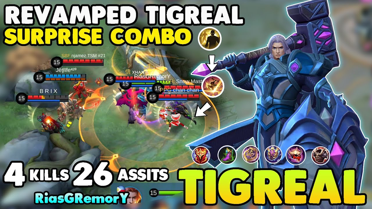 REVAMPED TIGREAL!!TIGREAL BEST BUILD & GAMEPLAY 2020 - BUILD TIGREAL MOBILE LEGENDS 2020