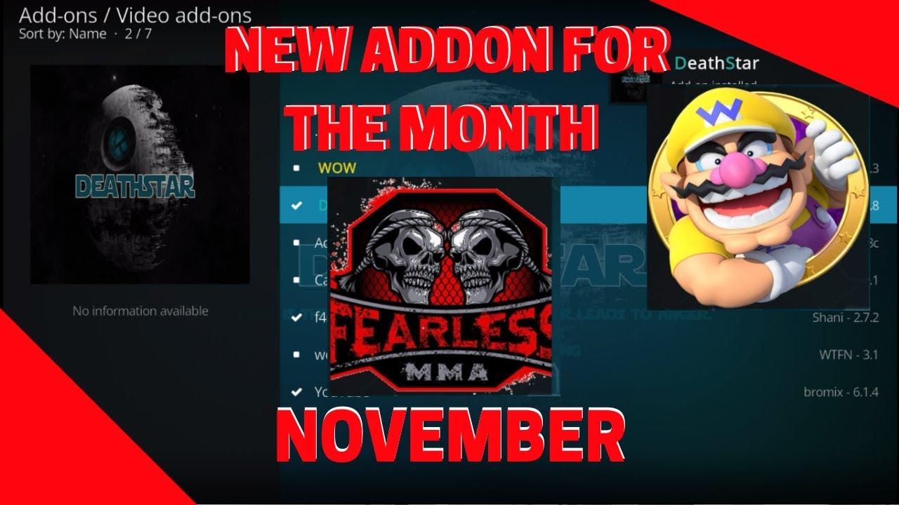New KODI Addons for November [DeathStar, Fearless MMA