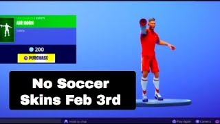Soccer Skins Returned Feb 3rd? | *NEW* AIR HORN EMOTE..! | Fortnite Battle Royale