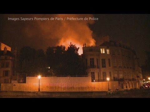Huge fire rages at historic French palace causing serious damage
