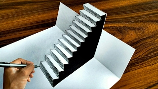 How To Draw Easy 3D Steps Optical Illusion