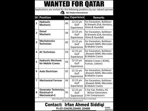 Jobs in Saudi Arabia , Qatar & UAE, 13 September 2017
