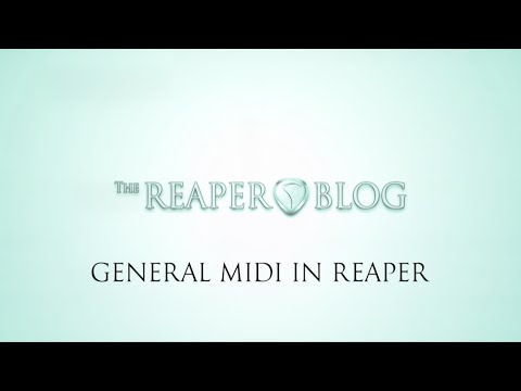 How to use General MIDI in REAPER