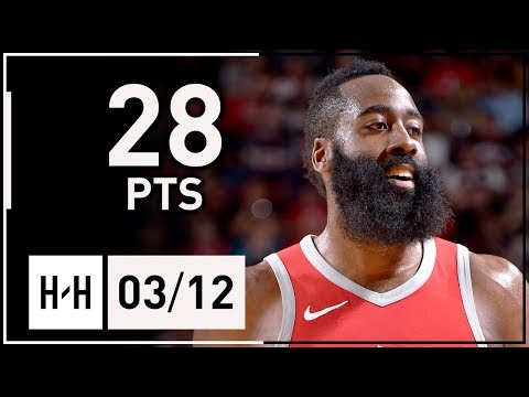 James Harden Full Highlights Rockets vs Spurs (2018.03.12) - 28 Pts, 6 Reb, 6 Ast in 3 Qtrs!