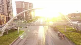 Пролет дрона внутри моста. г. Новосибирск, Родники