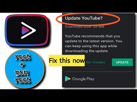 [Fix] How to use YouTube Vanced with no playstore update pop up!! [Root+Non Root]