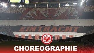 Die CHOREO vor dem Spiel SGE VS Schalke 14.02.2015