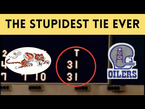 [OC] [Highlight] In a 1969 game against the Oilers, Bengals head coach Paul Brown, trailing by 3 points in the red zone, decided to kick a field goal and end the game in a tie. He did it to boost morale. Cincy lost their final 5 games after that. This is the story of one of the stupidest ties ever