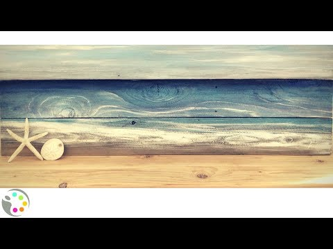 DIY Beach Painting on Wood | Acrylic Painting Tutorial