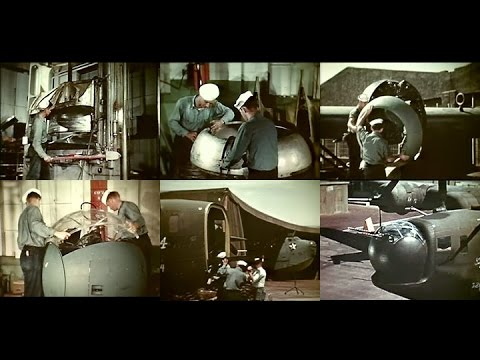 WW2 U.S. Navy Metal Smiths – Making aircraft parts from scratch (1944, Restored Color)