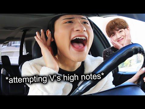 I embarrass myself in the car singing BTS