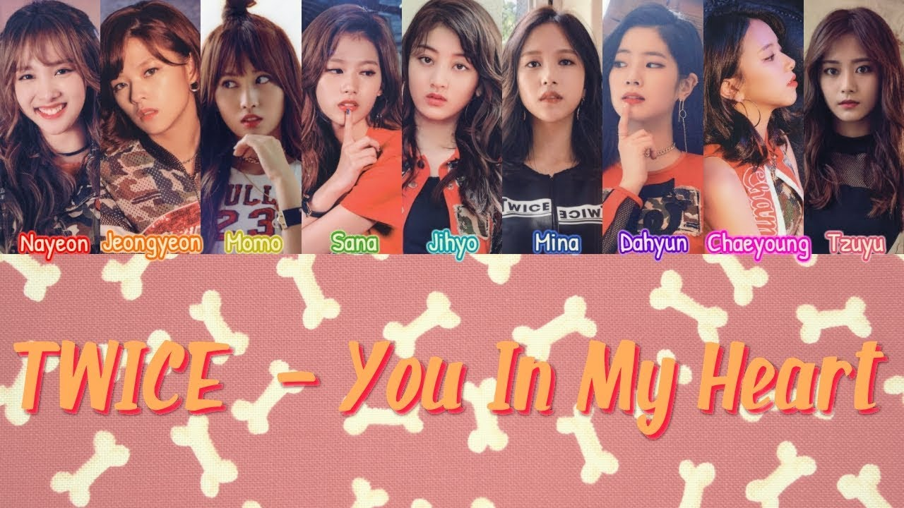 Twice You In My Heart Legendado Pt Br Han Rom Lyrics Color