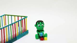 Baby Hulk needs Teddy bear stop motin play boh Cartoon  full Video