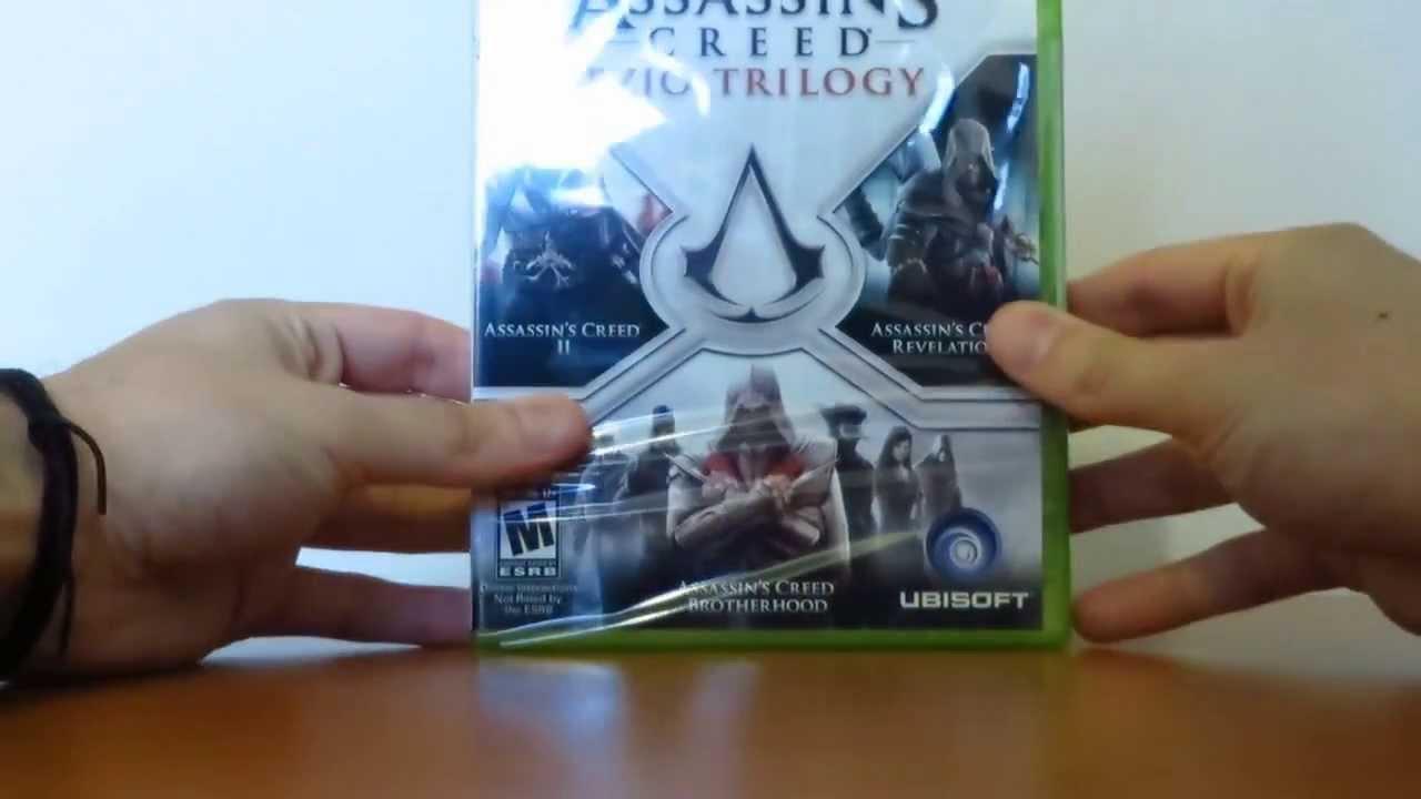 Unboxing #4 Assassin's Creed Ezio Trilogy Xbox 360 - YouTube