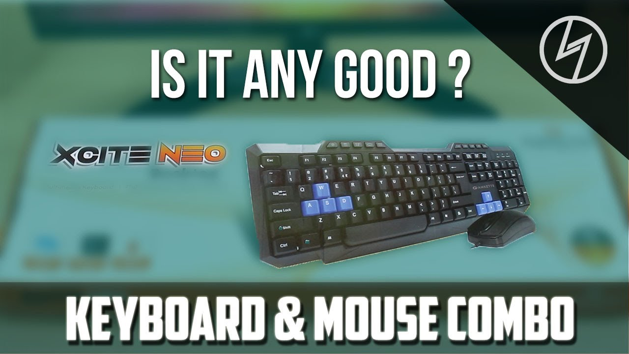 7c56c9c28e8 Amkette Xcite Neo USB Keyboard and Mouse Combo (Black) - Unboxing |  CreatorShed