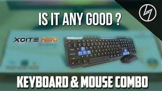 Amkette Xcite Neo USB Keyboard and Mouse Combo (Black) - Unboxing | CreatorShed