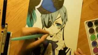 Drawing Ciel Phantomhive from Black Butler Book of Circus (Kuroshitsuji)