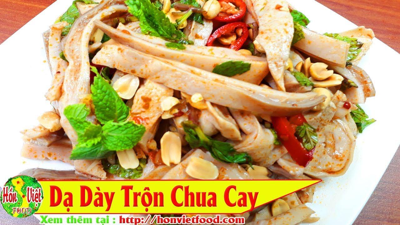 ✅ Làm Dạ Dày Heo Trộn Chua Cay Gi òn Ngon Sần Sật Thơm Nức | Hồn Việt Food