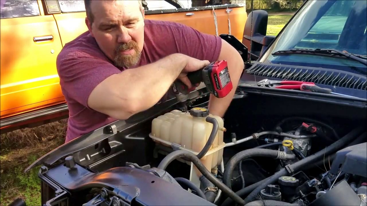Fixing false low coolant light and replacing coolant tank ...