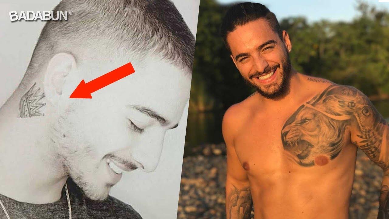Mira El Increíble Significado De Los Tatuajes De Maluma Youtube