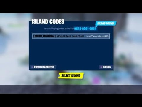 Mongraal Edit Course Code Read Description