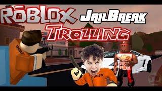 Roblox - JailBreak Ninja Trolling Raging Kid 😂