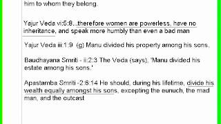 Women Abuse in Hindu Texts