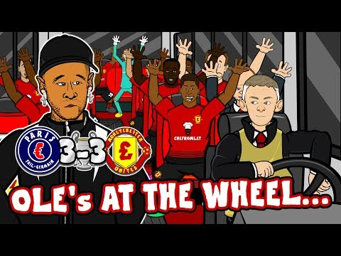 🤯3-3! PSG vs MAN UTD🤯 Ole's at the Wheel chant! (Champions League Parody Song Highlights 1-3)