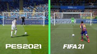 FIFA 21 or PES 21 - Penalty Kicks Test