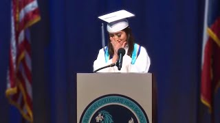 EMOTIONAL VALEDICTORIAN GRADUATION SPEECH OPENS UP ABOUT DEPRESSION