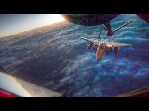 F-15E Aerial Refueling by Tanker Aircraft