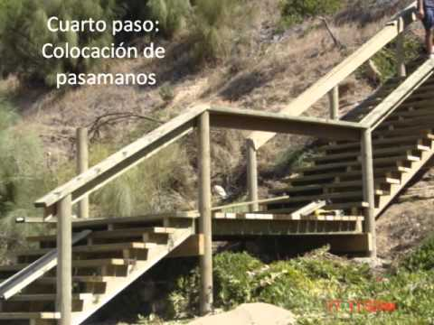 Escalera para exterior youtube for Pequena escalera de madera exterior