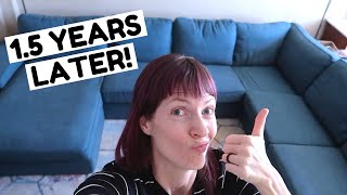 Our Ikea Kivik After 1.5 Years with 3 Kids | Ikea Kivik Review