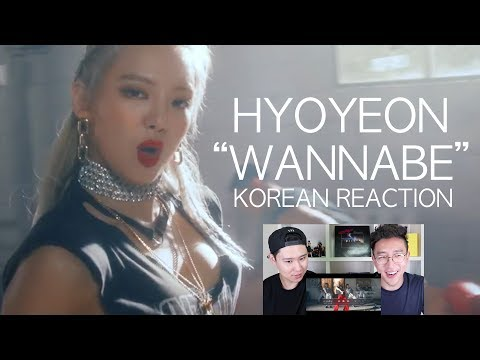 HYOYEON - Wannabe (Feat. San E) MV KOREAN REACTION!
