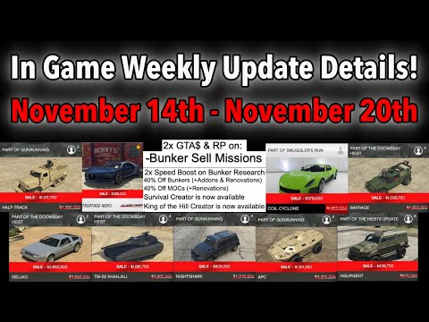 GTA 5 ONLINE IN GAME WEEKLY UPDATE DETAILS! 2x MONEY, NEW CREATOR MODES, VEHICLE DISCOUNTS & MORE!