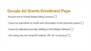 How to Setup Google Grants