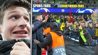 BORUSSIA DORTMUND FANS RUN OVER TO SPURS END | BVB vs Spurs - Heung min son (손흥민 / 孫興慜) GOAL!