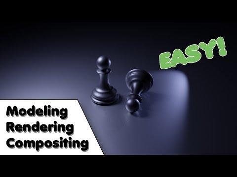 Blender Beginner Modelling Tutorial [Chess Pawn] Rendering/Compositing