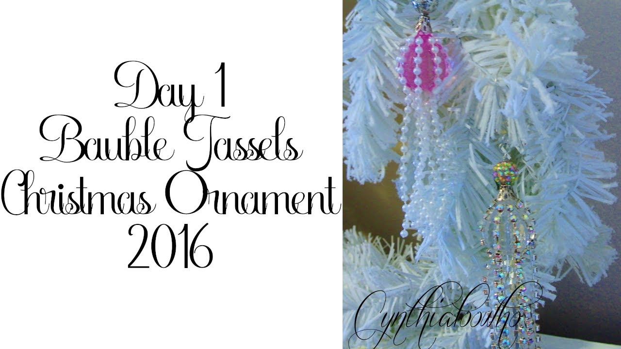 Day 1 of 10 Days of Christmas Ornaments with Cynthialoowho 2016 ...