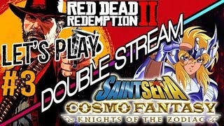 🔴LIVE SAINT SEIYA COSMO FANTASY + RED DEAD REDEMPTION 2