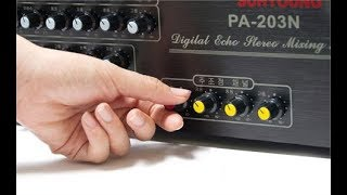 cách chỉnh amli karaoke pa203 để hát hay hơn