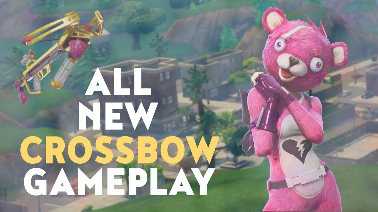 ALL NEW CROSSBOW GAMEPLAY (Fortnite Battle Royale)