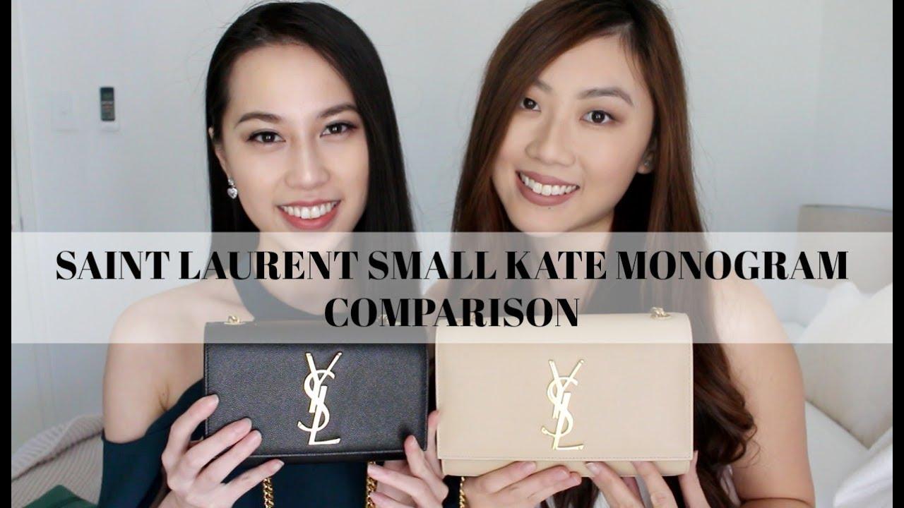 a211d9dd001 Saint Laurent Small Kate Monogram Comparison (Old Vs New) | PCC tv ...