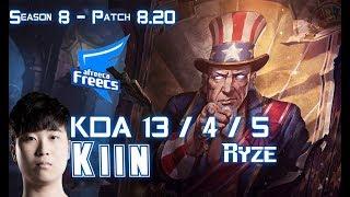 AFs Kiin RYZE vs IG The Shy AATROX Top - Patch 8.20 KR Ranked