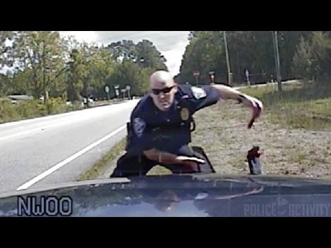 Dashcam Shows Robbery Suspects Shooting At Police During Chase
