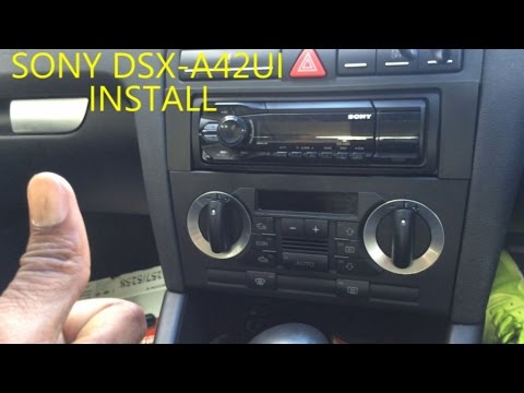 hqdefault car stereo sony dsx a42ui install on audi a3 youtube pc9-401 wiring diagram at fashall.co