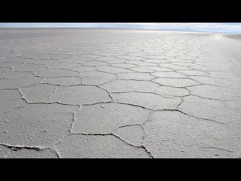 Salar de Uyuni, the world's largest salt flat located in Bolivia.