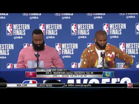 James Harden and Chris Paul | Western Conference Finals Game 3 Press Conference