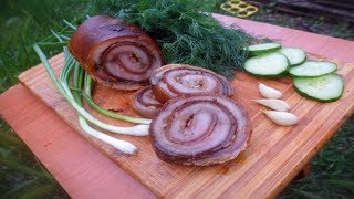 Рулет из свиной шкуры / очень вкусный рецепт из свинины