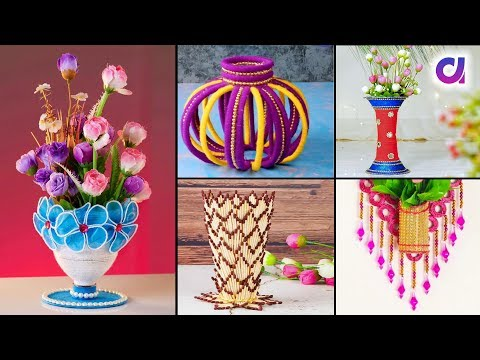 10 Easy and Beautiful DIY Flower Vase for Diwali | Room Decor | Artkala